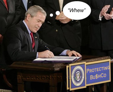 Bush Signs His Own Pardon