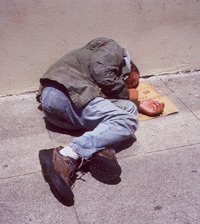 Homeless Man in SF '02